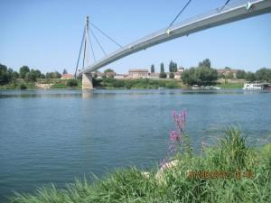 Reka Sava i most Sv. Irineja u Sremskoj Mitrovici